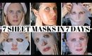 TESTING 7 SHEET MASKS EVERYDAY FOR A WEEK ALL UNDER £10