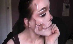 Artistic Skull Drugstore Makeup (Halloween Tutorial)