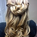 Waterfall Half-bun...by Calista Brides Hair & Makeup Artistry