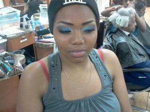 makeup for prom i did