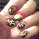 rainbow crackle
