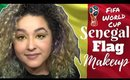 Senegal Flag Inspired Makeup Tutorial -FIFA World Cup- (NoBlandMakeup)