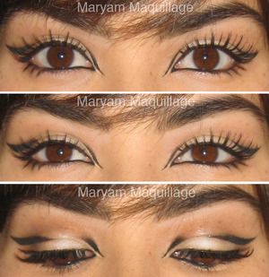 creative cat-eye liner http://www.maryammaquillage.com/2012/01/signature-liner-go-to-nude-lips.html