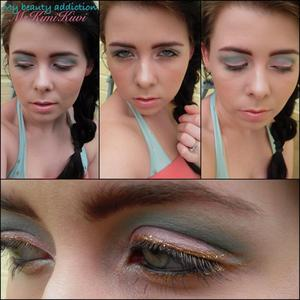 I used My Beauty Addiction shadows -- pink coral, tickle pink, mermaid, silver shores and anemone.