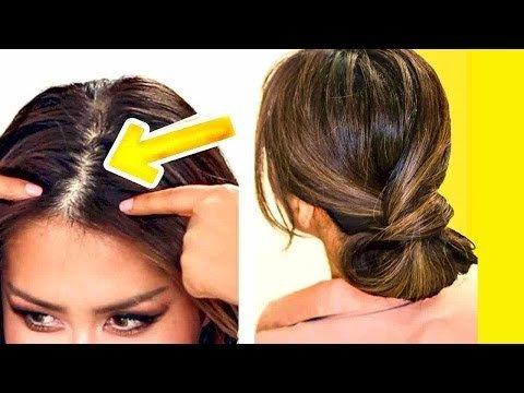 2 Minute Elegant Bun For Thin Hair Easy Updo Hairstyles