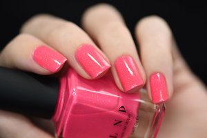 Summer Crush is a tasty bubblegum pink neon nail polish with just the right touch of super sweet holographic sparkle.   ILNP.com