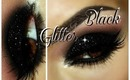Smokey Eye with Black Glitter