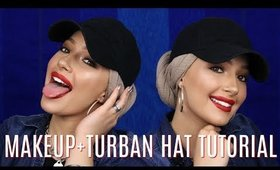 GET READY WITH ME + HOW TO WRAP TURBAN WITH HAT *HIJAB* TUTORIAL