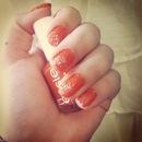 Orange With White Sparkles