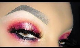GRWM Super Sexy Pink Halo with Glitter ft. Mulac Womanly e Ciglia Finte
