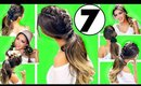 ★TOP 7 EASY GYM / EVERYDAY HAIRSTYLES for 2017 👍🏽 |  Hairstyles for Long Medium Hair