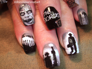 I teach nail art and all of my photos have tutorials that can be found on Youtube and Beautylish. Please say Inspired by Robin Moses if you love my teaching!
