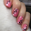 Pink dotting tool manicure
