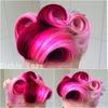 Pink vintage victory rolls