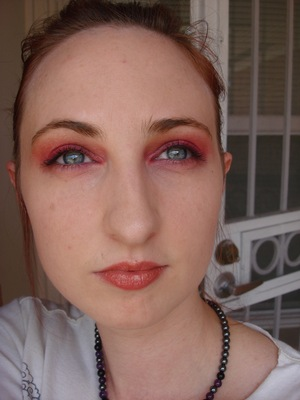 Full face, berry gradient eye.  Don't ask what's happening with my hair haha :D