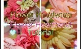 How to make a flower headband/flower headdress/headwrap for Coachella, Beyond Wonderland, EDC