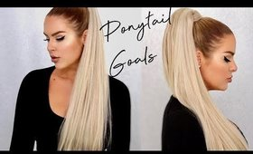 HOW TO: THICKER + LONGER Ponytail Instantly using Foxy Locks Clip in Ponytail