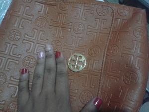 The nail art for today... with my Tori Burch purse!