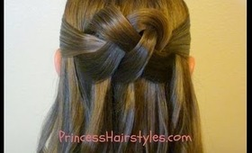 """""""Woven Knot"""" Half Up Hair Style, Homecoming Hairstyles"""