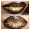 Black and Gold Ombre Lips