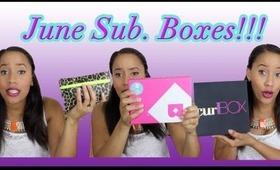 June Subscription Boxes- CurlBOX, Birchbox & Ipsy