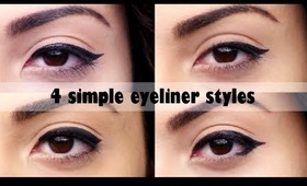 4 Simple Eyeliner Styles Tutorial