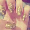 Gold Nails - Nail Art
