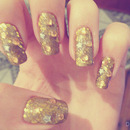 Gold Nails - Nail Art