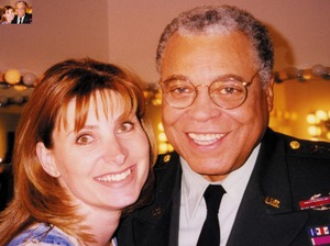 James Earl Jones and I on the Tiberian Sun set - personal artist - Key makeup artist