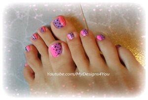 Cute Toenail Art Design for Valentine´s Day