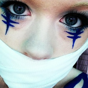 this makeup is inspired by an awesome character in the anime series, Fairy Tail.