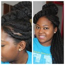 High Bun And Braids Natural Style
