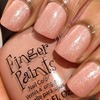Tapping Tips Pink Frost over Finger Paints Blank Canvas Cream