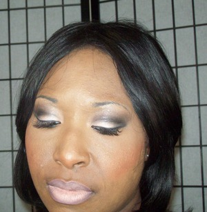 Affordable date or girls night Pink and Black Smokey eye look using Walking on Eggshells Palette from Wet N Wild along with ELF and Mary Kay Minerals Blush.