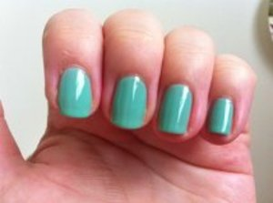 Essie Turquoise & Caicos Nail Polish  To read my review of the polish and to see more pictures please visit my blog:  www.mazmakeup.blogspot.com