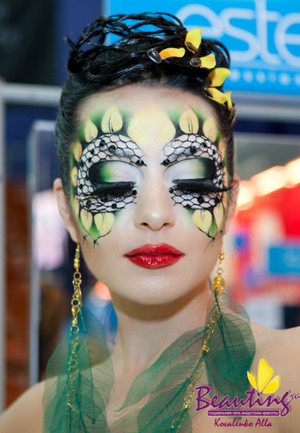 My work at the International Makeup Contest Nevskie Berega in Saint Petersburg 2nd place