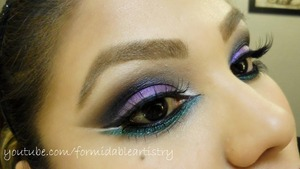 This look was created using the eyeshadows from the new Sugarpill Cold Chemistry collection. Full list of products in blogpost!  http://formidableartistry.blogspot.com/2013/01/sugarpill-cold-chemistry-makeup-tutorial.html