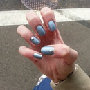 Matte metalic blue & studs