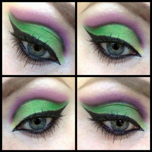 Joker inspired makeup using Collection's Poptastic palette.