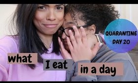 What I eat in a day | day in the life QUARANTINE | Intermittent fasting
