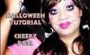 HALLOWEEN TUTORIAL - Creepy Doll Makeup | Honey Kahoohanohano