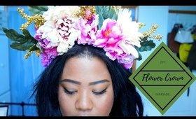 DIY FLOWER CROWN/HEADPIECE