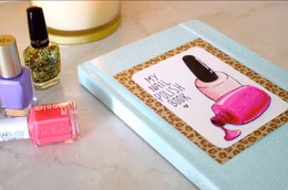 DIY Nail Polish Swatch Book With Cutepolish
