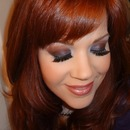 Indigo and Maroon with Glamour Doll Shadows