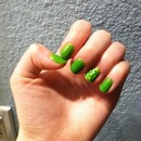 Beginner nail art for St.patty's day