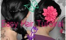 Hair Tutorial: Easy Elegant Braided Updo (Prom & Special Occaions)