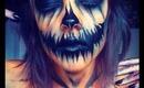 Halloween Makeup: Evil Human Pumpkin Makeup Tutorial