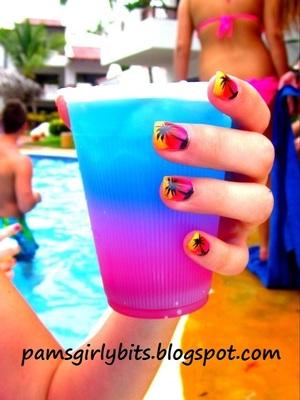 Fun nail art I did for vacation.