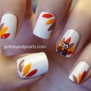 Easy Thanksgiving Turkey Nails!