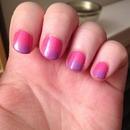 gradient nails. 1st attempt.
